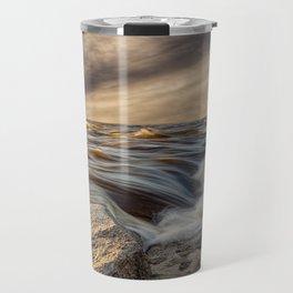 Where The River Kisses The Sea Travel Mug