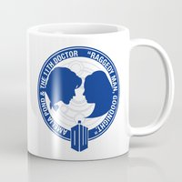 amy pond Mugs featuring Doctor Who pals: Matt Smith & Amy Pond by logoloco