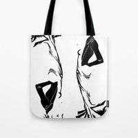 victorian Tote Bags featuring victorian  by Nancy Blau