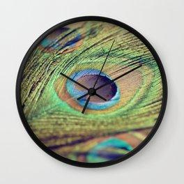 Three feathers Wall Clock