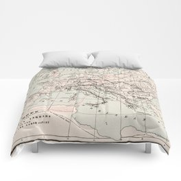 Vintage Fall of The Roman Empire Map (1901) Comforters