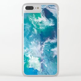 Sea Washed Rocks Clear iPhone Case