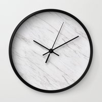 marble Wall Clocks featuring Marble by Grace