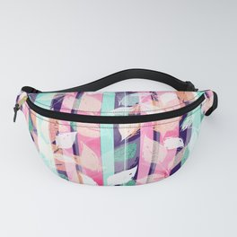 Cute Violet foliage brush paint design Fanny Pack