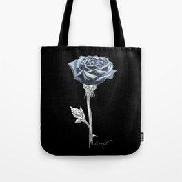 Rose 03b Botanical Flower * Blue Black Rose Tote Bag