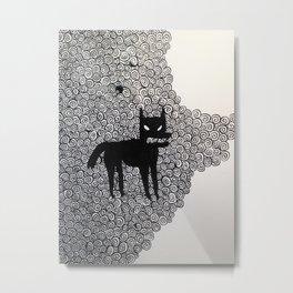 wolf with spirals  Metal Print