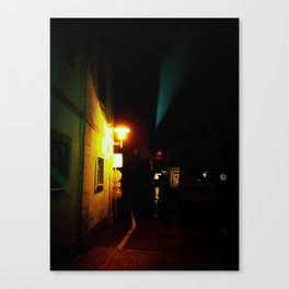 at night time Canvas Print