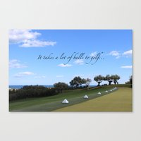 golf Canvas Prints featuring Golf by Rebecca Bear