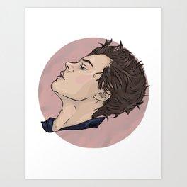 Harry Styles Pastel Pink Art Print