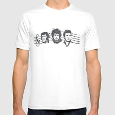 Elvis, Bob & Bruce SMALL White Mens Fitted Tee
