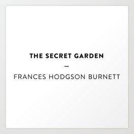 The Secret Garden  —  Frances Hodgson Burnett Art Print