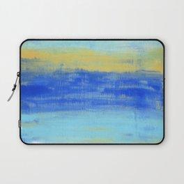 Relaxing Beach Aqua Turquiose Nautical Abstract Art Laptop Sleeve