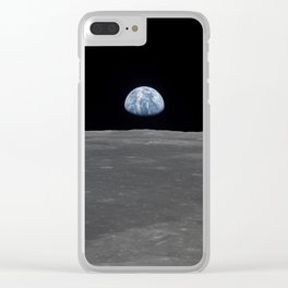 see the marble from the moon | space #05 Clear iPhone Case