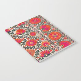 Kermina Suzani Uzbekistan Colorful Embroidery Print Notebook