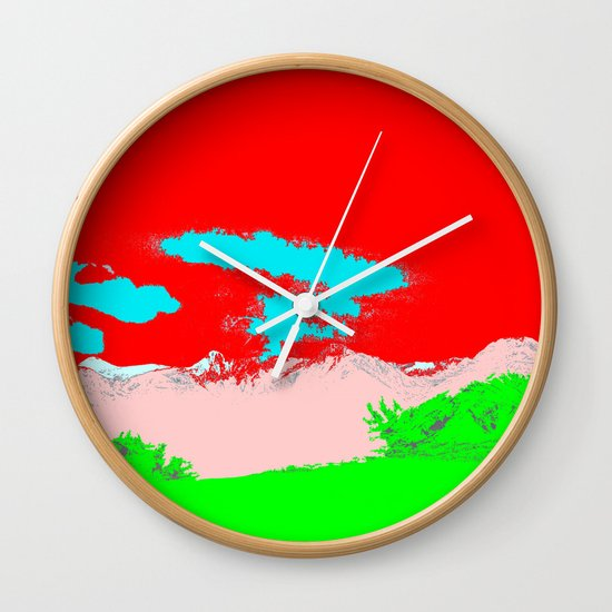 Ice Cream Mountain Wall Clock