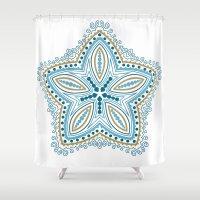 starfish Shower Curtains featuring Starfish by Scott Aichner