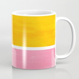 Pastel Yellow Pink Rothko Minimalist Mid Century Abstract Color Field Squares Coffee Mug