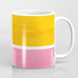 Pastel Yellow Pink Rothko Minimalist Mid Century Abstract Color Field Squares Coffee Mug