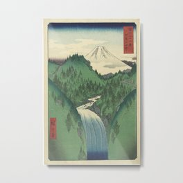 Hiroshige - 36 Views of Mount Fuji (1858) - 22: The Izu Mountains Metal Print