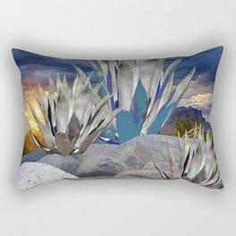 AGAVE CACTUS & GREY ROCKS SUNSET LANDSCAPE Rectangular Pillow