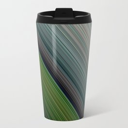 Decorative Colorful Green Blue Lines Design Travel Mug