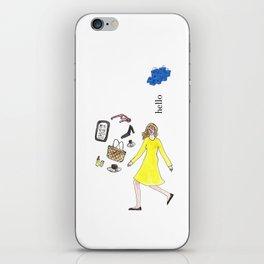 Hello Woman iPhone Skin