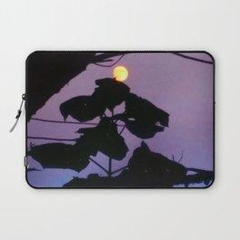 Moon and Catalpa Tree Laptop Sleeve