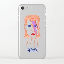 David Bowie Knife Clear iPhone Case