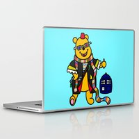 pooh Laptop & iPad Skins featuring Doctor Pooh by Murphis the Scurpix