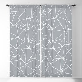 Abstraction Outline Grey Blackout Curtain