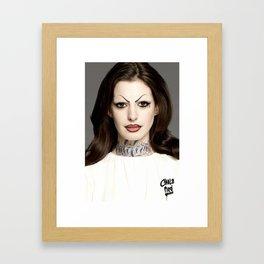 chola anne hathaway aka la gata Framed Art Print