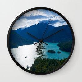 Diablo Lake Wall Clock