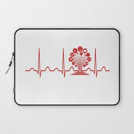 Technology Teacher Heartbeat Laptop Sleeve