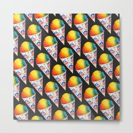 Snow Cone Pattern Metal Print