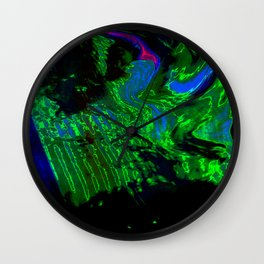 ALTERED PIXL STATES XI [BLUE PEARL] Wall Clock