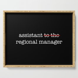 Assistant to the Regional Manager Serving Tray
