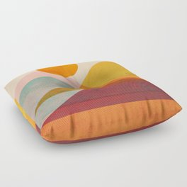 Abstraction_SUNSET_LANDSCAPE_POP_ART_Minimalism_018X Floor Pillow