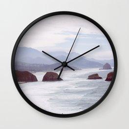 Oregon Coast - Cannon Beach Wall Clock
