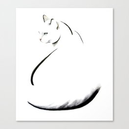 Swoop Cat Canvas Print