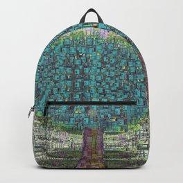 Tree Town - Magical Retro Futuristic Landscape Backpack