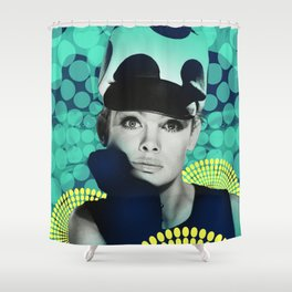 Supermodel Shrimpton 2 - Supermodels of the Sixties Series Shower Curtain