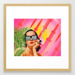 Babe Over Beirut  Framed Art Print