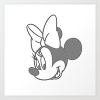 minnie mouse Art Prints featuring Minnie Mouse by tshirtsz