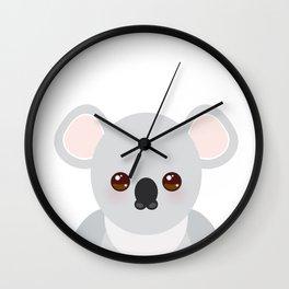 Funny cute koala Wall Clock