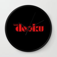 sith Wall Clocks featuring Waiting for the Sith by castlepöp