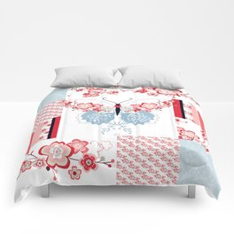 Cherry Blossom Butterfly Collection Comforters