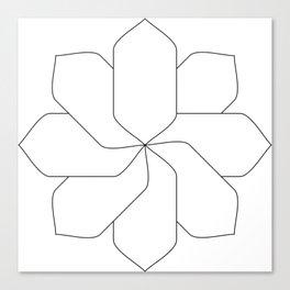 Flower Base Canvas Print