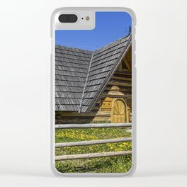 Wooden Home. Clear iPhone Case