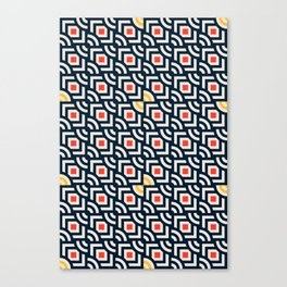Round Pegs Square Pegs Navy Blue Canvas Print