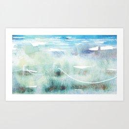 New Zealand Beachscape Art Print